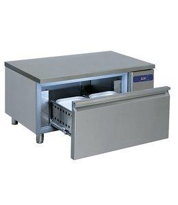 Virtus  Tiefkühlunterbau für Kochgeräte / B1200 mm, Schublade GN 2/1