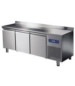 Mastro Tiefkühltisch 1865x600 / 3 Türen mit Aufkantung, -10°/-20°C