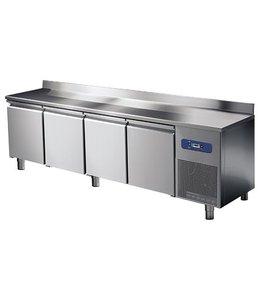 Mastro Tiefkühltisch 2330x600 / 4 Türen mit Aufkantung, -10°/-20°C
