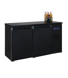 Mastro Kühltheke / Getränketheke schwarz mit 2 Türen -2°/+8°C