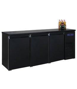 Mastro Kühltheke / Getränketheke schwarz mit 3 Türen, -2°/+8°C