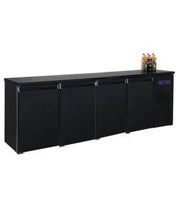Mastro Kühltheke / Getränketheke schwarz mit 4 Türen, -2°/+8°C