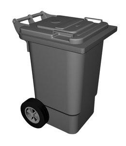 Mastro Abfalleimer auf Rädern, 120 Liter
