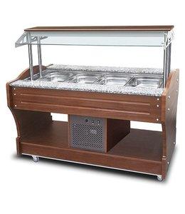 Mastro Kaltes Buffet mit statischer Kühlung, Inselmodell, 4x GN 1/1