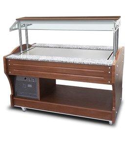 Mastro Kaltes Buffet mit Kühlplatte, Inselmodell / 1550x900