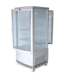 Virtus  Getränkekühlvitrine mit 3 Böden, Tischmodell, 86 Liter, 0°/+12°C