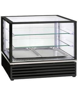 Virtus  Kalte-Theke mit 2 Glasböden und Schiebetüren 2x GN 1/1
