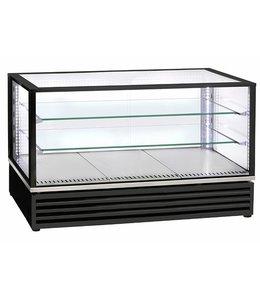 Virtus  Kalte-Theke mit 2 Glasböden und Schiebetüren 3x GN 1/1