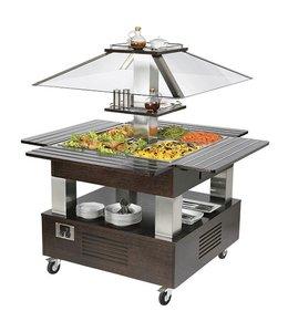 Mastro kaltes Buffet / Salatbuffet Insel, 4x GN 1/1