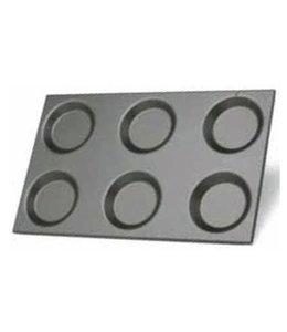Virtus  emailliertes Aluminiumblech für Spiegeleier, Omelettes und Crêpes, GN 1/1