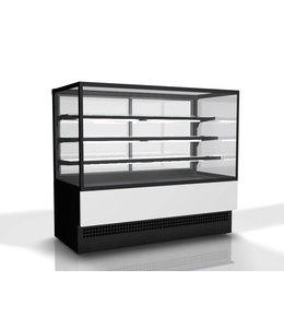Mastro Kühltheke Evok / 3 Regalböden und gerade Frontverglasung, B=1800 mm