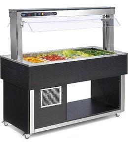NordCap Kaltes Buffet / Salatbar 4x GN 1/1 / Haube elektrisch