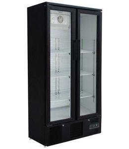GGG Flaschenkühlschrank 490 Liter / 2 Glastüren  / Farbe Schwarz