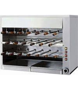 IF Churrasco Grill - 20 Spieße / Gas 14kW / Rodiziogrill 20G
