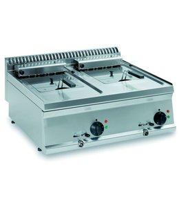 KBS Gastrotechnik Elektro-Fritteuse, Tischmodell / 2x 8 Liter / B700xT700
