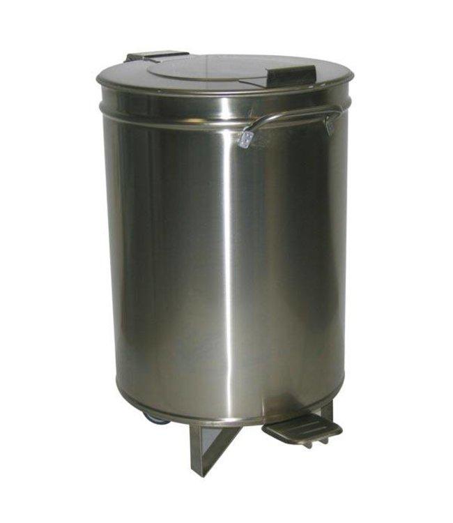 KBS Gastrotechnik Abfalleimer Edelstahl - mit Fußpedal / 95 Liter