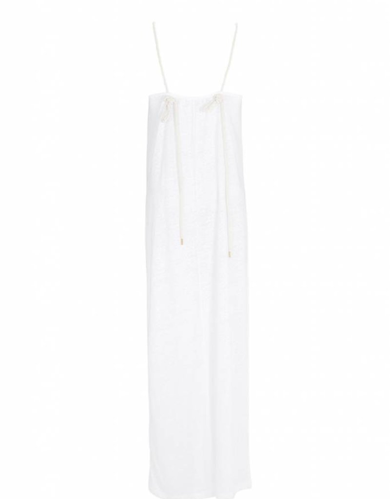 EVANGELATOU SOFIA ZETA GOLD DRESS WHITE
