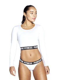 Pursue Fitness Crop cut Long sleeve - white