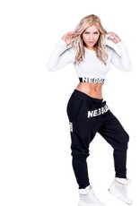NEBBIA Longsleeved croptop - wit