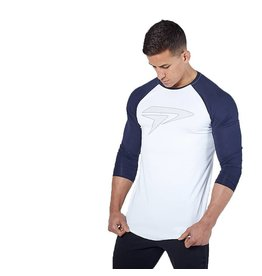 Physiq apparel Apex gym t-shirt - wit/navy