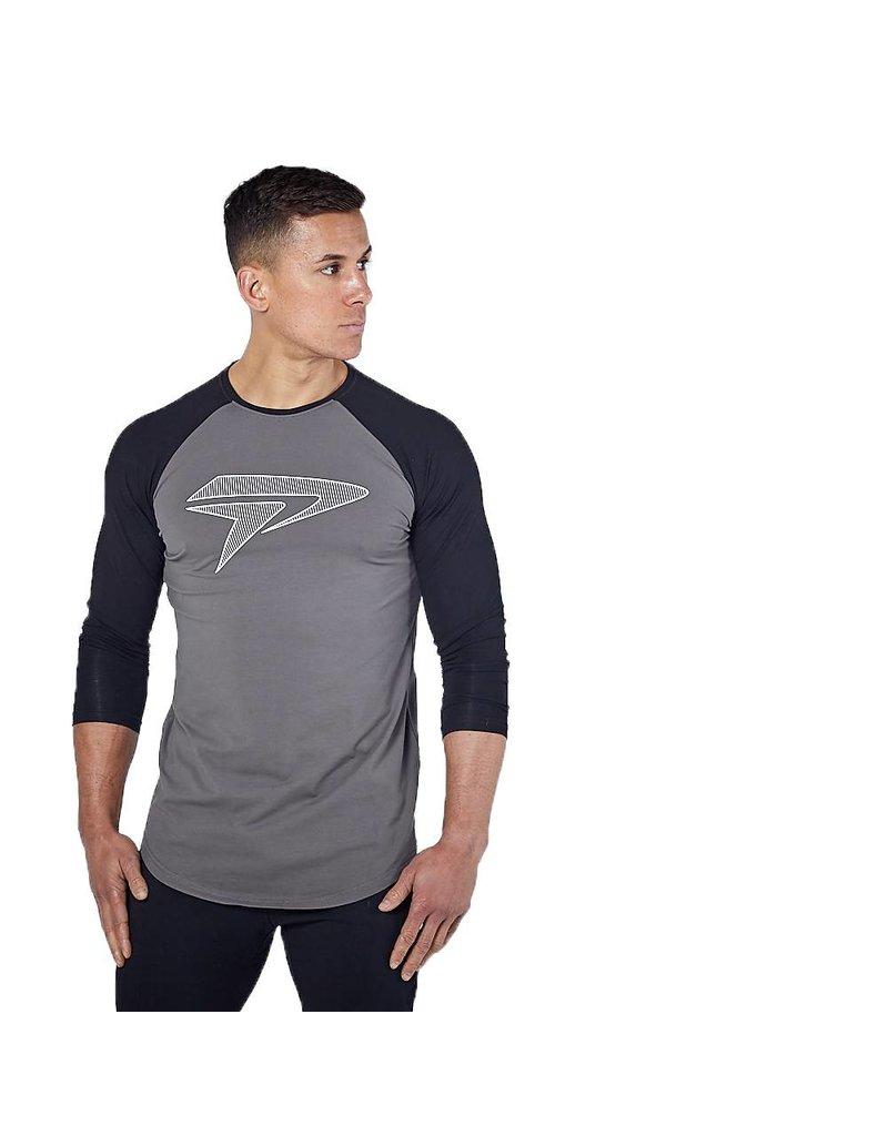Physiq apparel  Apex 3/4 shirt - zwart/ grijs