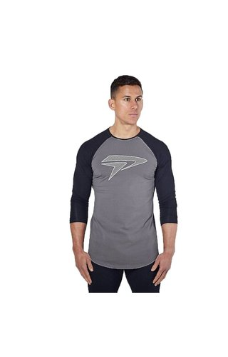 Physiq apparel Apex t-shirt - zwart/ grijs