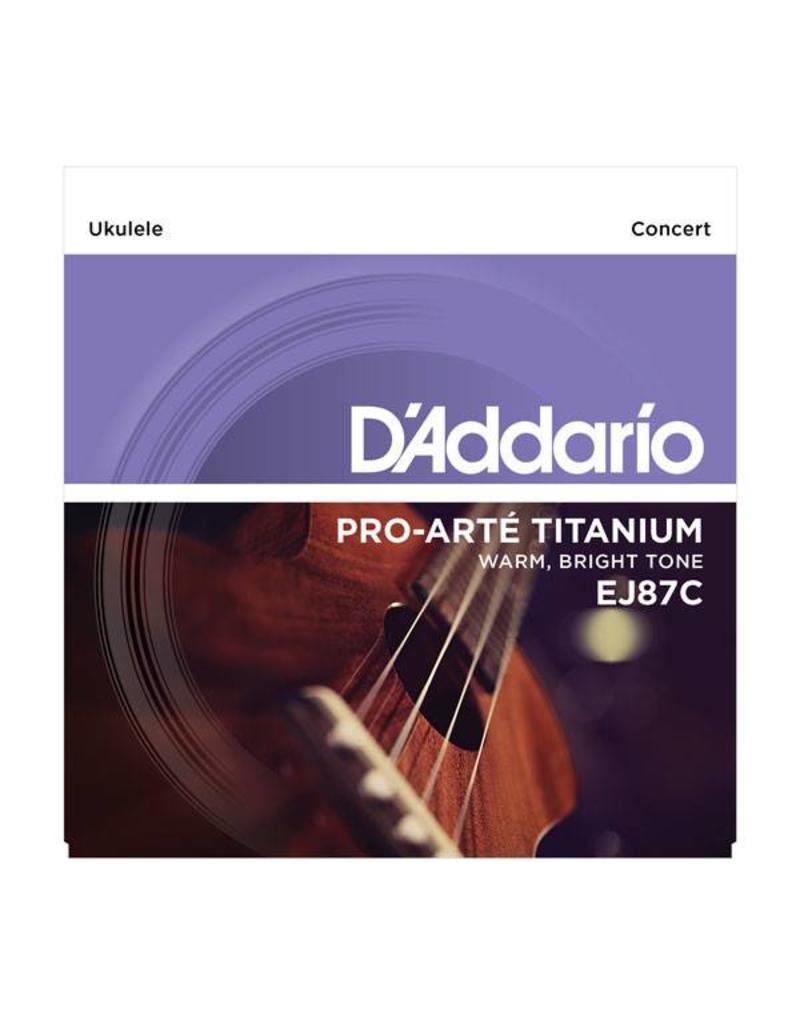 DAddario Concert Ukulele Titanium, EJ87C