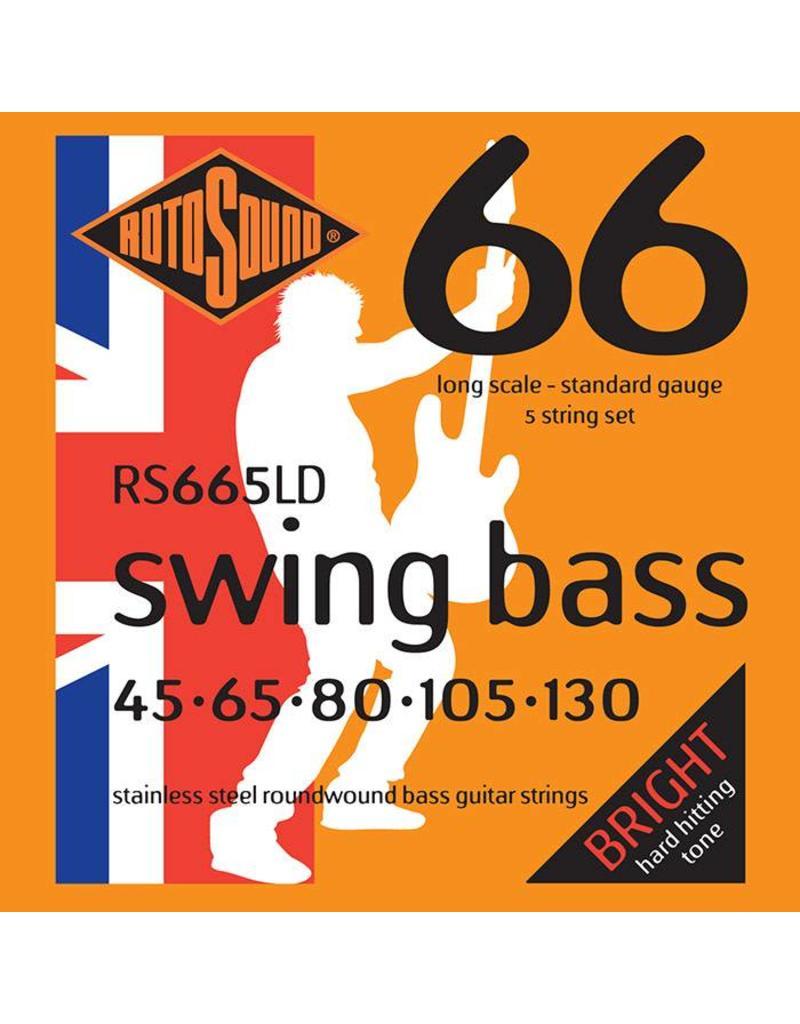 Rotosound Swing Bass, 45-130, 5 String Set, RS665LD