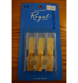 DAddario Woodwinds Royal, Bb Clarinet, 3 Pack, 2.0