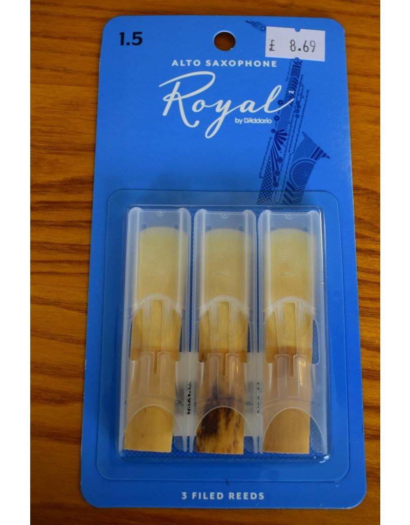 DAddario Woodwinds Royal, Alto Sax, 3 Pack, 1.5