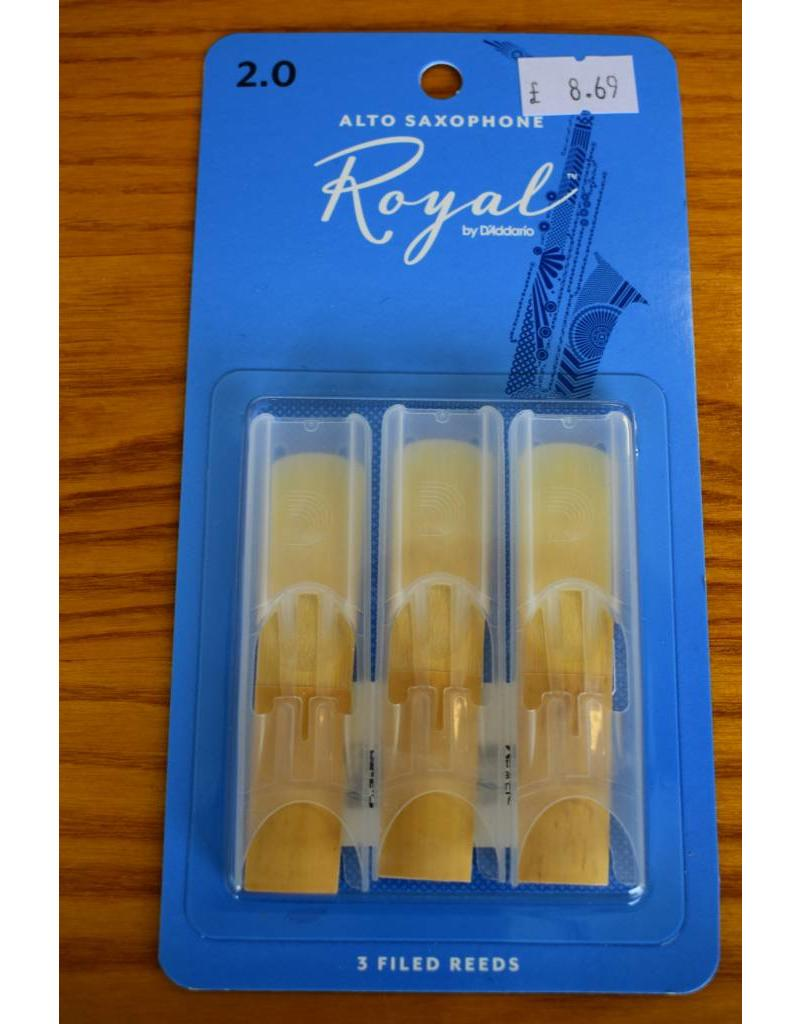 DAddario Woodwinds Royal, Alto Sax, 3 Pack, 2.0