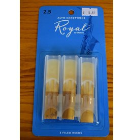 DAddario Woodwinds Royal, Alto Sax, 3 Pack, 2.5