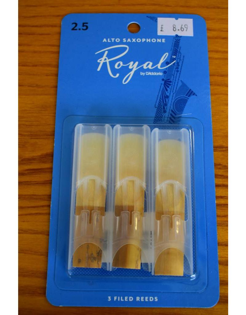 DAddario Woodwinds Royal, Alto Sax, 3 Pack, 2.5