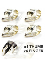 DUNLOP Finger & Thumbpick Set, Nickel Silver, 33P.020