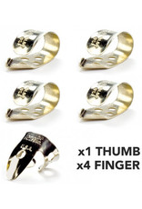 DUNLOP Finger & Thumbpick Set, Nickel Silver, 33P.025