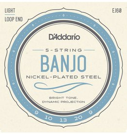 DAddario 5 String Banjo, 9-20, Loopend, EJ60