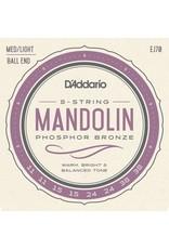 DAddario Phosphor Bronze Mandolin, Ballend, EJ70