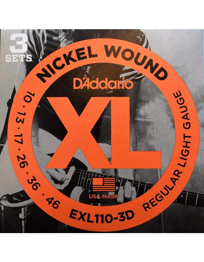 DAddario EXL110-3D 10-46 3 Pack