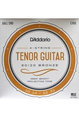 DAddario Tenor Guitar, 80/20 Bronze, Ball End, EJ66