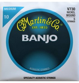 Martin & Co 5 String Banjo, Nickel Wound, Medium, V730
