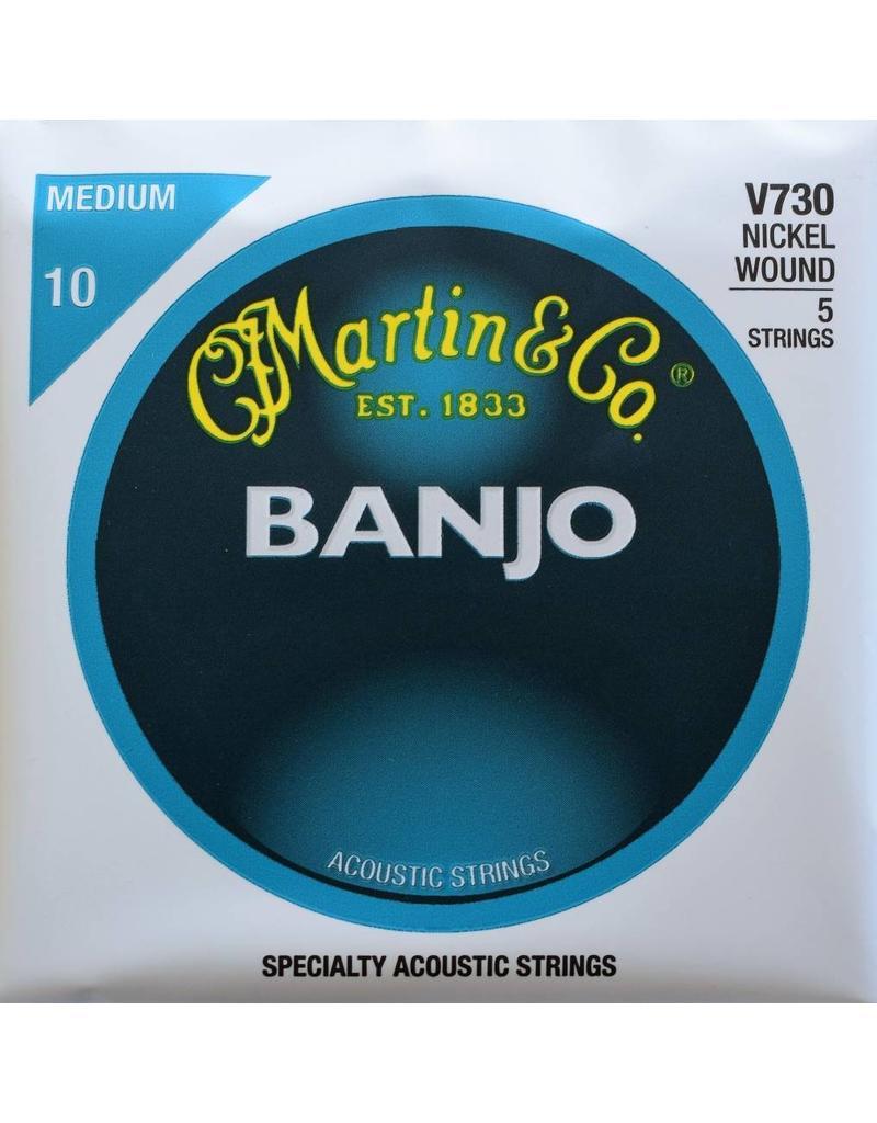 Martin & Co 5 String Banjo, Nickel Wound, Medium, V730