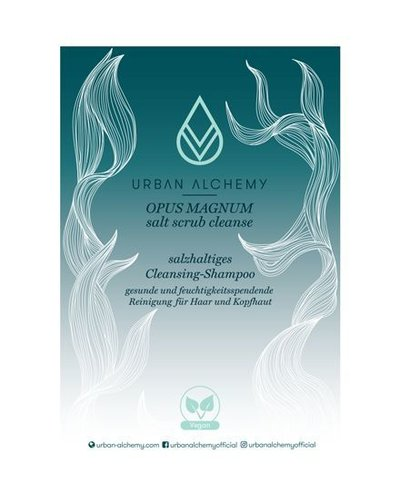 Urban Alchemy OPUS MAGNUM Salt Scrub Cleanse Display