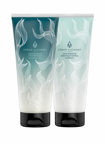 Urban Alchemy OPUS MAGNUM salt scrub + conditioner set