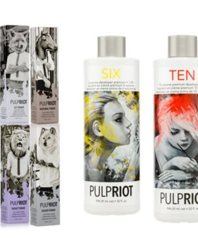 Pulp Riot Pulp Riot High Speed Toners Starter Set! With all toners 3 x & 1 x Developers 6 & 10