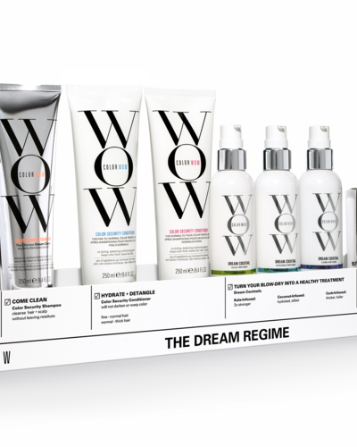 Color Wow Dream Regime set + display