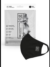 NEQI NEQI Gezichtsmasker - Zwart, M-L