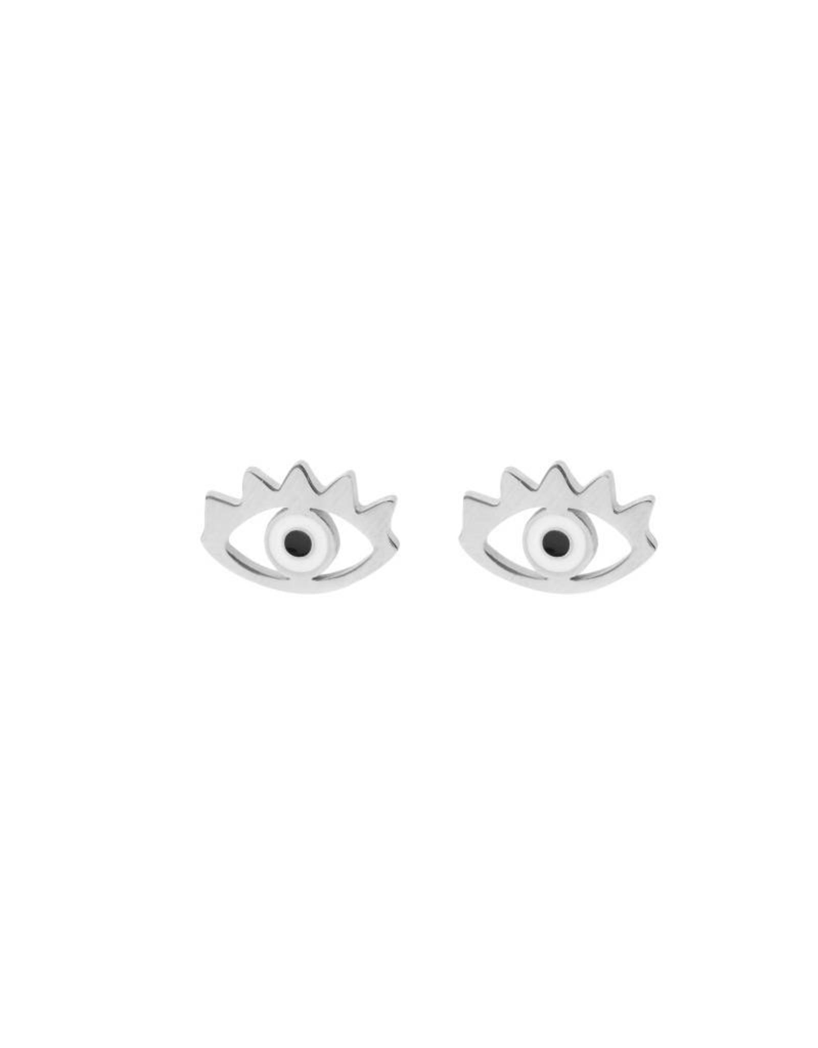 Eye earrings zilver
