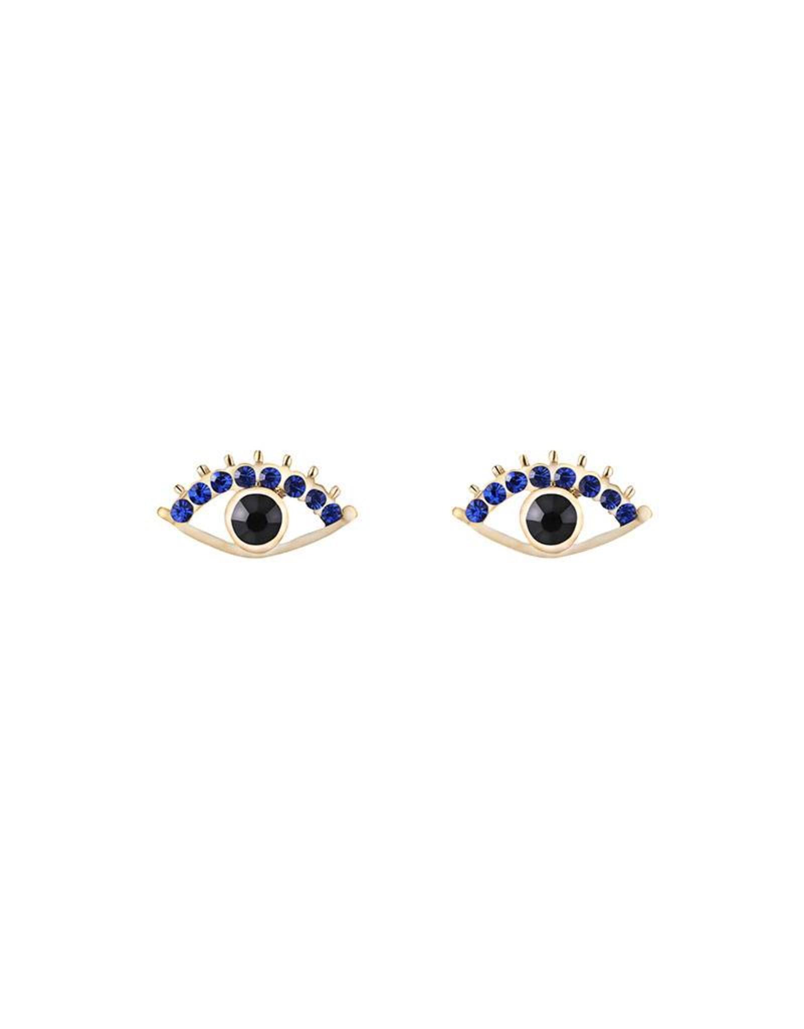 Sparkle eye earrings goud