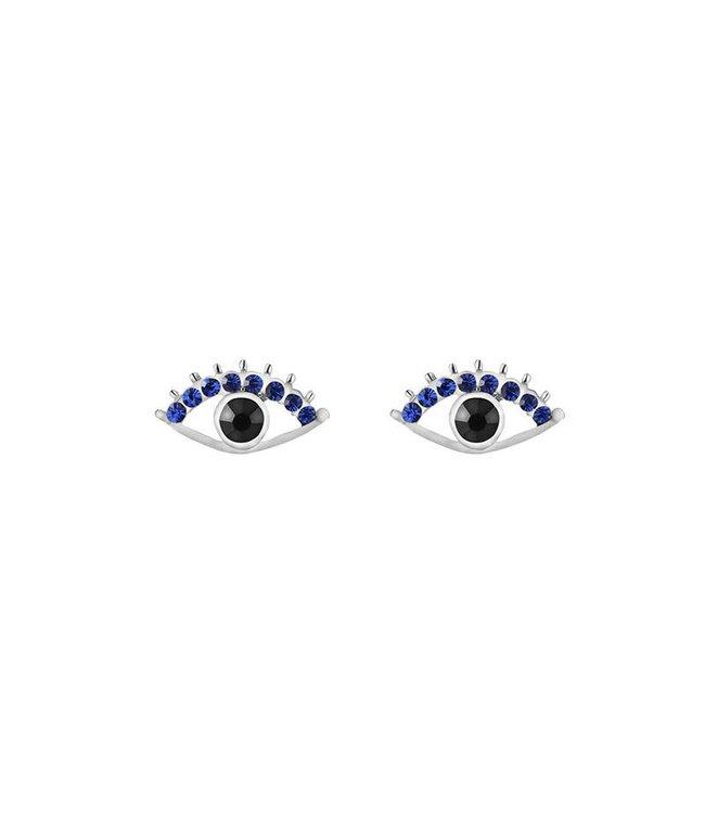 Sparkle eye earrings zilver