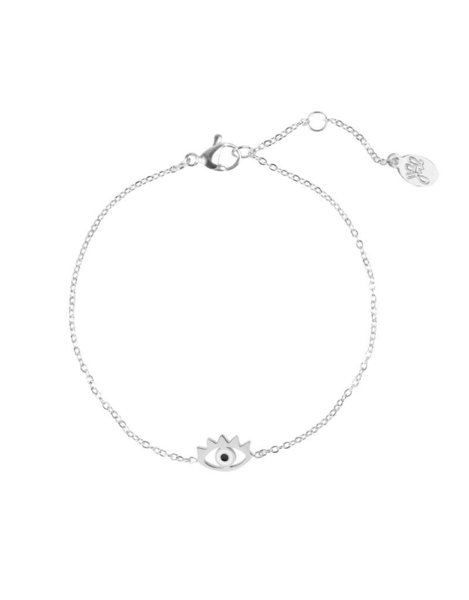 Eye bracelet zilver